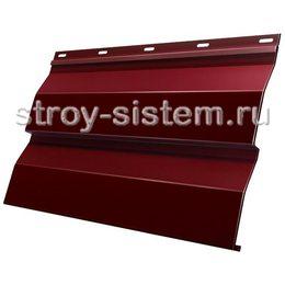 Металлический сайдинг корабельная доска 0,5 мм RAL 3005 винно-красный