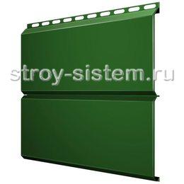 Металлический сайдинг Евробрус 0,45 мм RAL 6002 зеленая листва