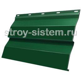 Металлический сайдинг корабельная доска 0,5 мм RAL 6005 зеленый мох