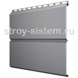 Металлический сайдинг Евробрус 0,45 мм RAL 7004 серый