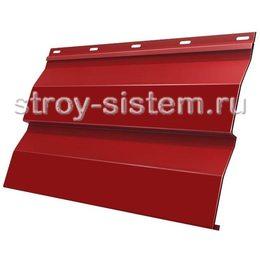 Металлический сайдинг корабельная доска 0,5 мм RAL 3003 рубиново-красный