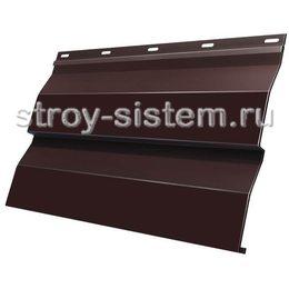 Металлический сайдинг корабельная доска 0,5 мм RAL 8017 шоколадно-коричневый