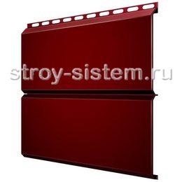 Металлический сайдинг Евробрус 0,45 мм RAL 3005 винно-красный