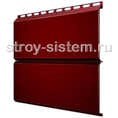Металлический сайдинг Евробрус 0,5 мм RAL 3005 винно-красный
