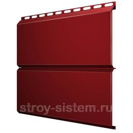 Металлический сайдинг Евробрус 0,45 мм RAL 3011 коричнево-красный