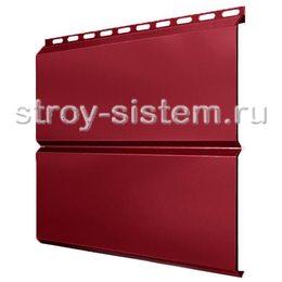 Металлический сайдинг Евробрус 0,45 мм RAL 3003 рубиново-красный