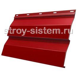 Металлический сайдинг корабельная доска 0,5 мм RAL 3011 коричнево-красный
