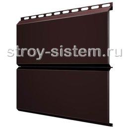 Металлический сайдинг Евробрус 0,45 мм RAL 8017 шоколадно-коричневый