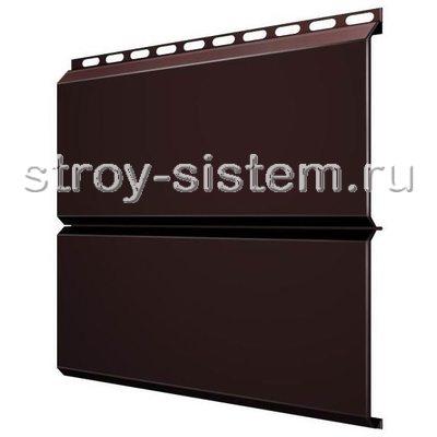 Металлический сайдинг Евробрус 0,5 мм RAL 8017 шоколадно-коричневый
