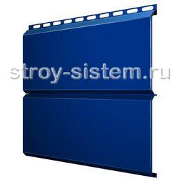 Металлический сайдинг Евробрус 0,45 мм RAL 5005 сигнальный синий