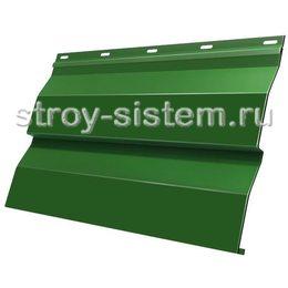 Металлический сайдинг корабельная доска 0,5 мм RAL 6002 зеленая листва