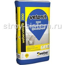 Пол наливной финишный Weber Vetonit 3100 20 кг