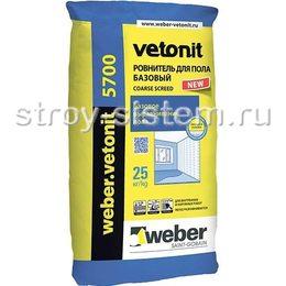 Ровнитель для пола базовыйWeber Vetonit 5700 25 кг