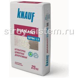 Штукатурка цементная декоративная Knauf Диамант Шуба 1,5 мм белая 25 кг
